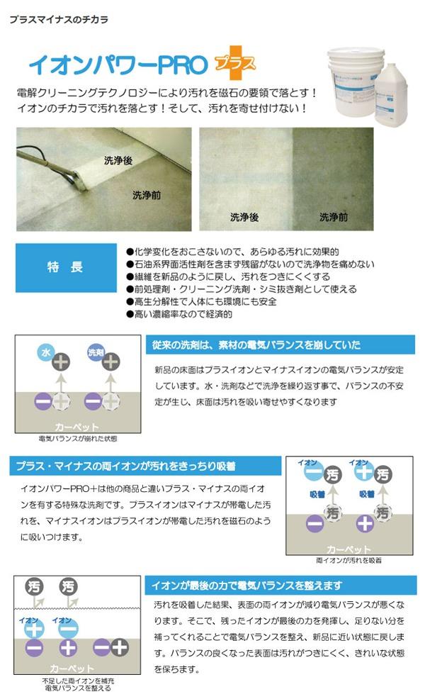 シャンプークリーニング薬剤 イオンパワーPRO プラス